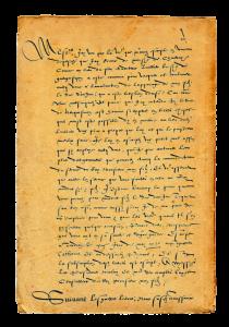Lettre de Catherine de Médicis