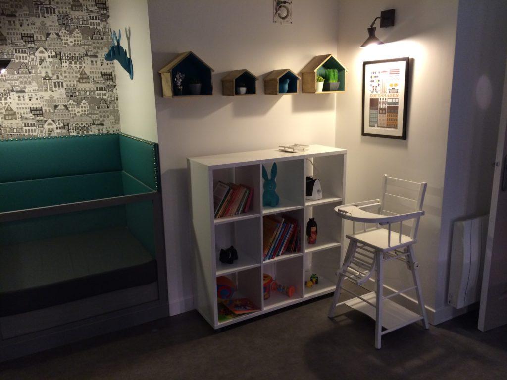 Salle de sieste pour les enfants