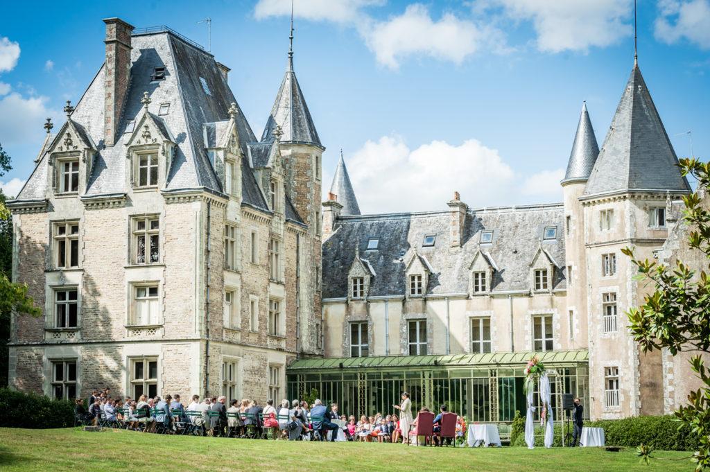 Mariage au Château de Trédion : côté sud